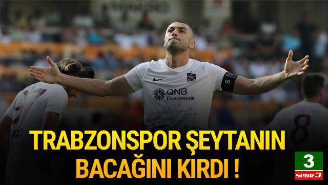 Trabzonspor galibiyete kavuştu !