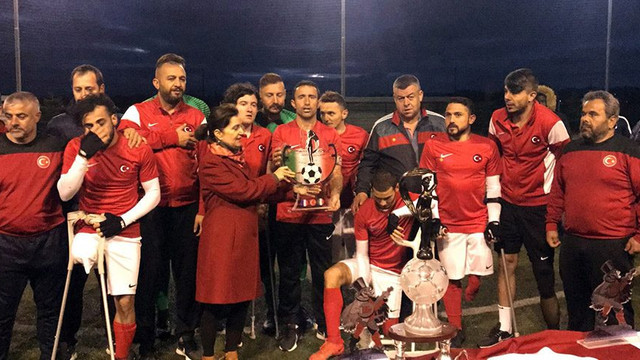 Türkiye Ampute Milli Futbol Takımı'ndan bir zafer daha