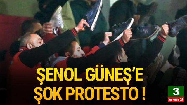 Taraftarlardan Şenol Güneş'e şok protesto
