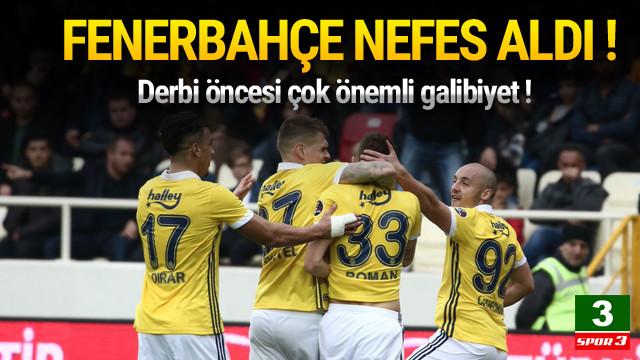 Fenerbahçe nefes aldı !
