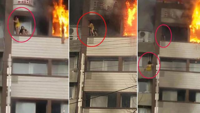 İzmir'de yangından böyle kurtulmuş