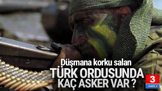 Düşmana korku salan Türk ordusunda kaç asker var ?