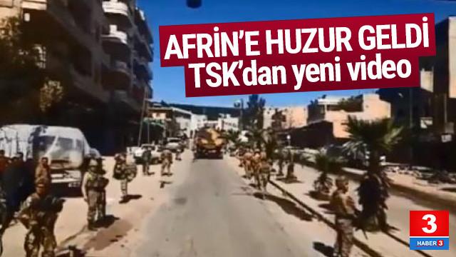 TSK, Afrin'den yeni görüntüler paylaştı