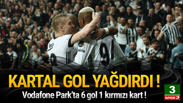 Beşiktaş Göztepe'ye gol yağdırdı !