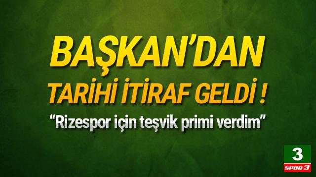 Muharrem Usta'dan 'teşvik primi' itirafı