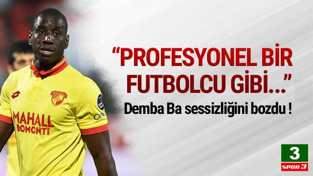 Demba Ba ilk kez konuştu