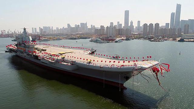 Çin'in ilk yerli uçak gemisinin testi başladı