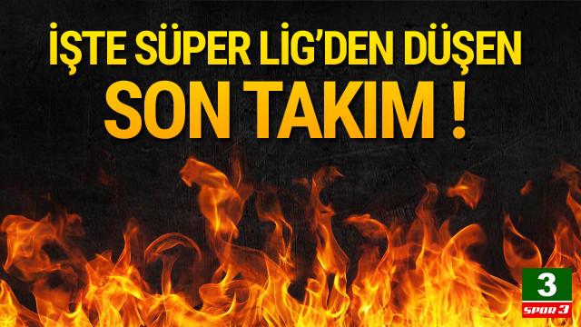Küme düşen son takım Osmanlıspor !