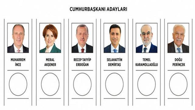 Cumhurbaşkanlığı seçiminde oy pusulası böyle olacak