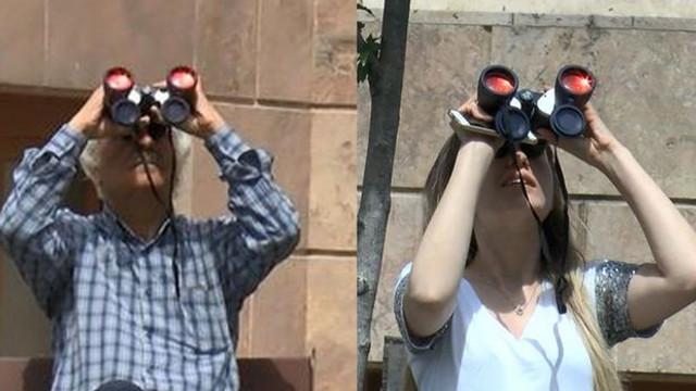 İstanbul'da pes dedirten olay ! Dürbünle izlediler