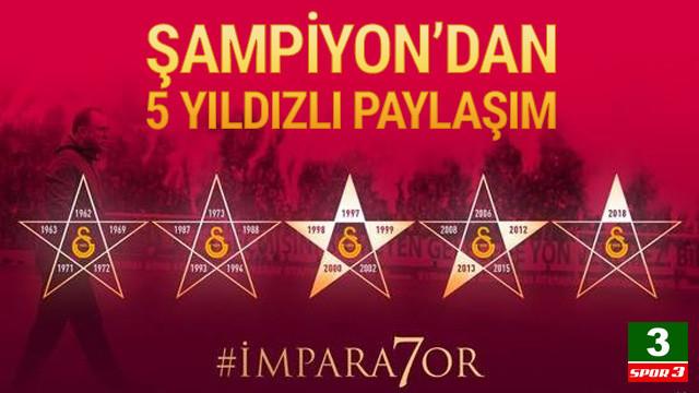 Galatasaray'dan 5 yıldızlı paylaşım