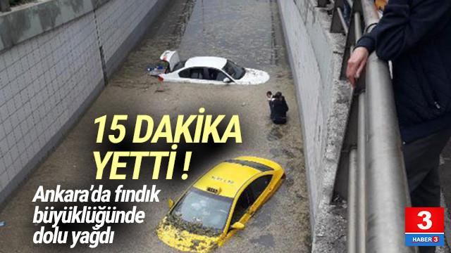 Meteoroloji uyarmıştı... Ankara'yı dolu vurdu !