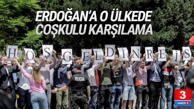 Erdoğan'a Bosna Hersek'te coşkulu karşılama