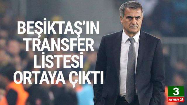 Beşiktaş'ın transfer listesi belli oldu