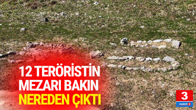 12 PKK'lının mezarı bulundu