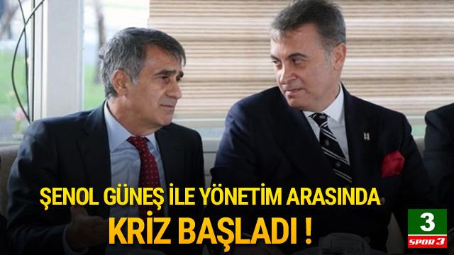 Beşiktaş'ta kriz ! Şenol Güneş ve yönetim...