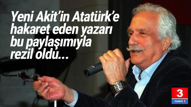 Atatürk'e hakaret eden tarihçi sosyal medyada rezil oldu