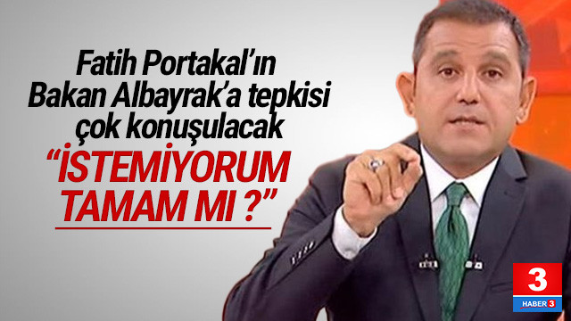 Fatih Portakal'dan Bakan Albayrak'a SMS tepkisi
