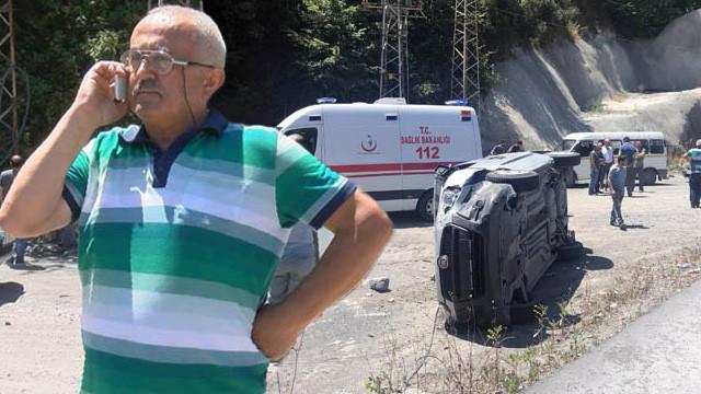 Kazaya karışan sürücü herkesi şoke etti !
