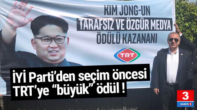 İYİ Parti'den TRT'ye Kim Jong'lu ödül