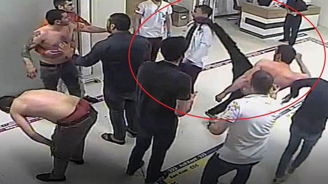 Hastanede doktorun yüzüne tekme attı !