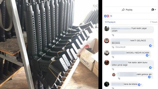 Facebook'ta ''tam otomatik tüfekli'' ''Reis'' paylaşımı