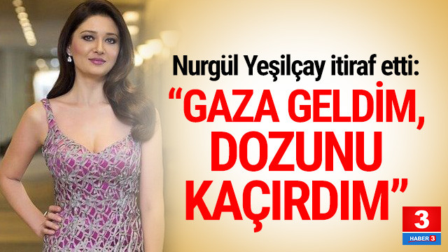 Ünlü oyuncudan ilginç itiraf: ''Gaza geldim dozunu kaçırdım''