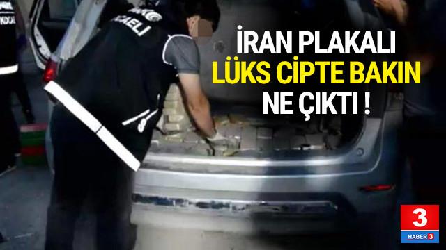 İran plakalı lüks cipte bakın ne çıktı