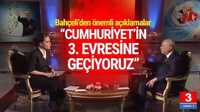 MHP lideri Bahçeli'den canlı yayında önemli açıklamalar