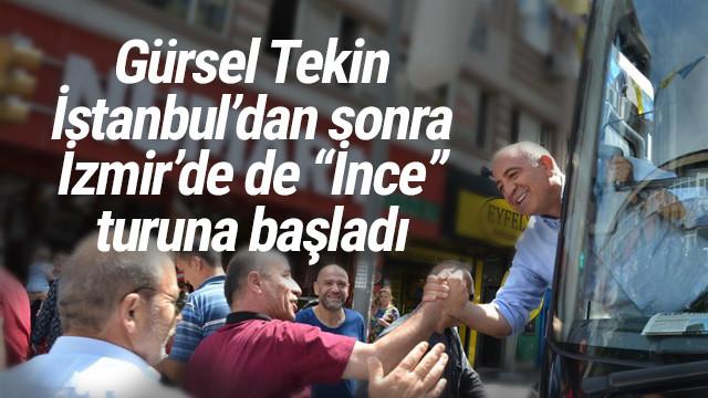 Tekin, İstanbul'dan sonra İzmir'de de 'İnce' turlarına başladı