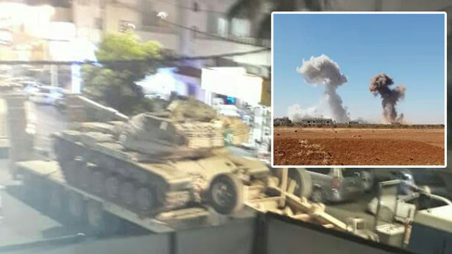 Savaşın ayak sesleri... Jetler ve tanklar bombalıyor !