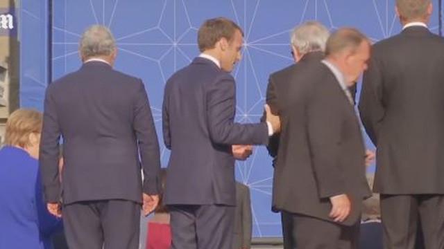 NATO Zirvesi'nde dikkat çeken görüntü ! Ayakta duramadı