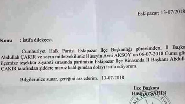 CHP'li başkandan dayak istifası ! Şok eden iddia...