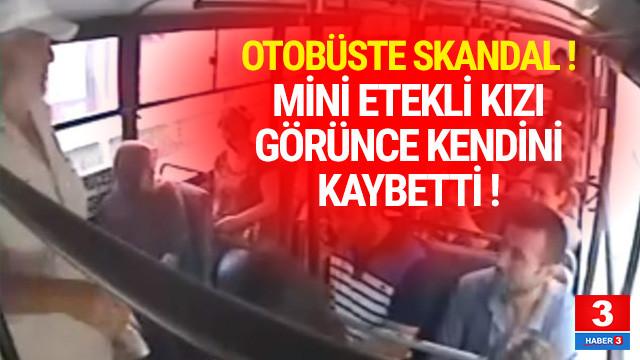 Mini etekli yolcuya tepki gösterdi otobüsü karakola çektirdi
