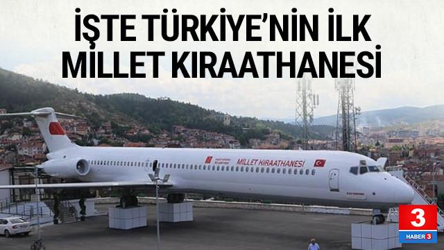 Yolcu uçağı ''millet kıraathanesi'' oldu