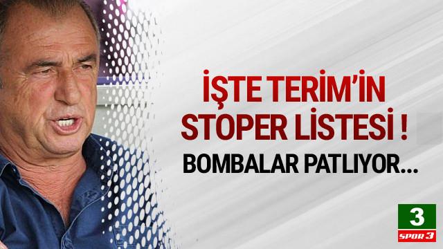 Fatih Terim'in stoper listesi ortaya çıktı !