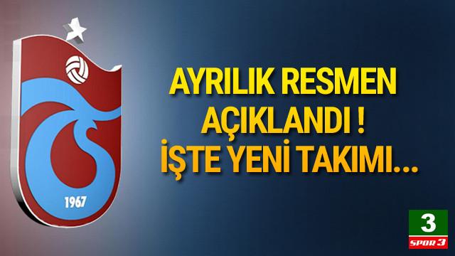 Trabzonspor'da ayrılık gerçekleşti !