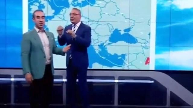 CNN Türk canlı yayınında ilginç anlar