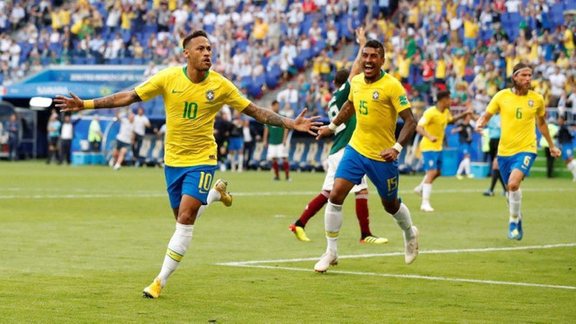 Brezilya çeyrek finalde !