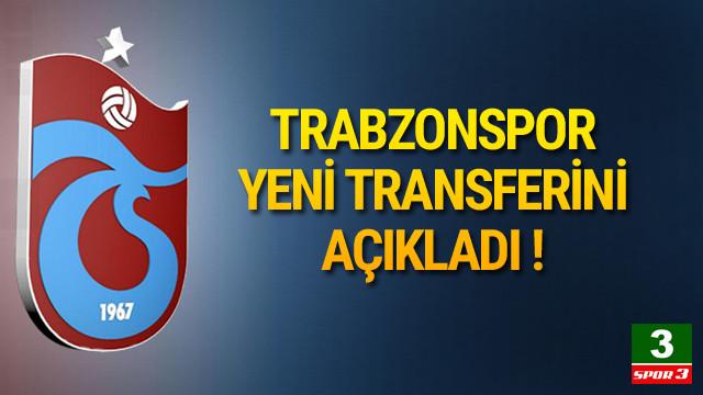 Trabzonspor yeni transferini açıkladı !
