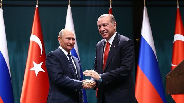 Trump'ın açıklaması sonrası Erdoğan, Putin'le görüştü