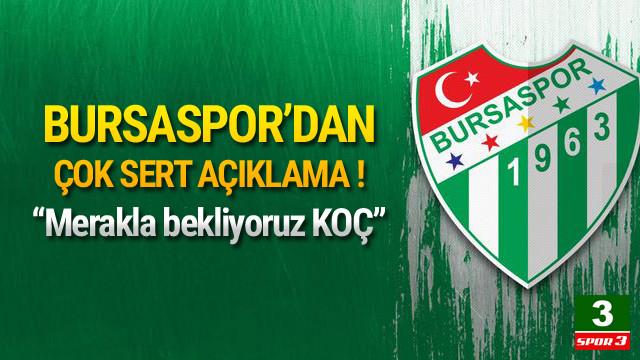 Bursaspor'dan çok sert Fenerbahçe açıklaması !
