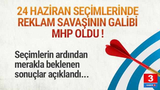 24 Haziran seçimlerinde reklam savaşının galibi MHP oldu