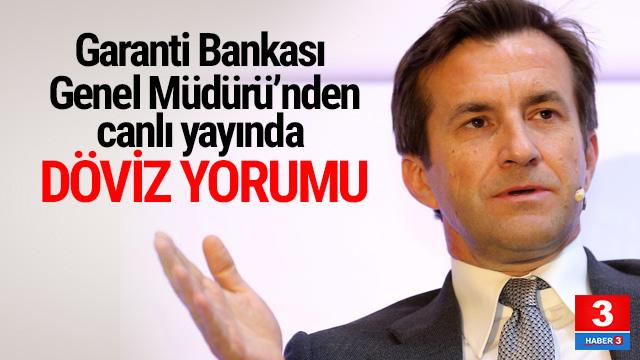 Garanti Bankası Genel Müdürü'nden döviz yorumu