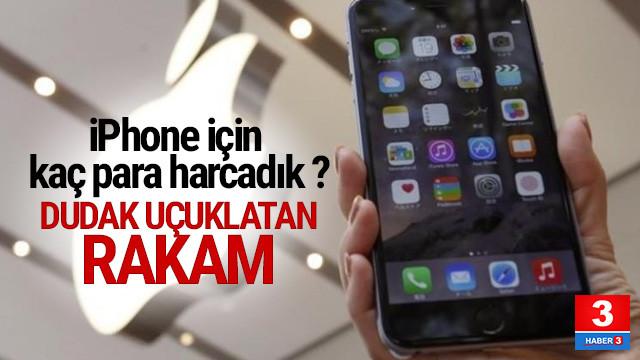 Türkler iPhone için ne kadar harcadı ?
