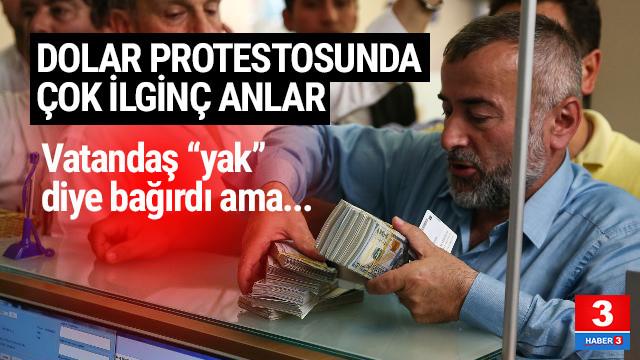 Dolar protestosunda vatandaşın zor anları