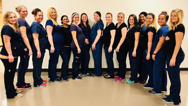 Hastanede kriz ! 16 hemşire birden hamile kaldı