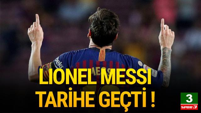 Messi Barcelona tarihine geçti !