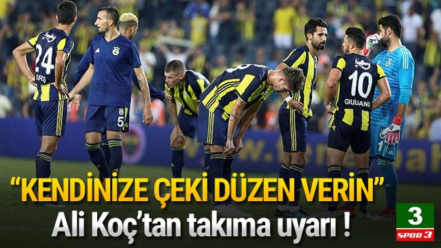Ali Koç'tan kaptanlara uyarı !