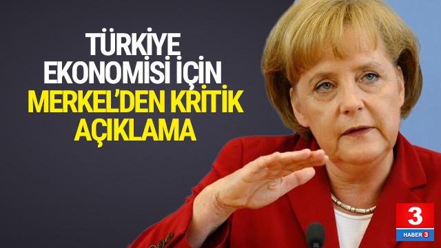 Merkel'den Türkiye açıklaması: Yardıma ihtiyaçları yok